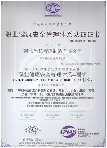 平焊法兰生产厂家职业健康证书